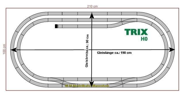 **Trix H0 C-Gleis Set 1,28-teilig,Oval R2 mit Bahnhofsgleis,Bogenradius R2,Neu**